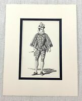 1889 Antico Stampa Un Lord IN Tribunale Abito Twelfth Night Costume Shakespeare
