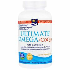 Ultimate Omega & CoQ10 1280 mg 120 Softgels by Nordic Naturals Free Shipping