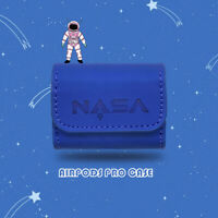 NASA Blue Leather Strap Soft Case Cover For Apple Airpods Pro 1st & 2nd