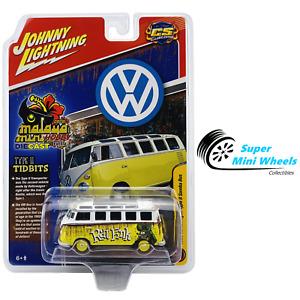 Johnny Lightning 1:64 - 1965 VW T2 Samba Bus Rat Fink - Yellow Weathered Rust
