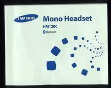 Manuale Uso Manual-SAMSUNG Mono Headset  Auricolare Cellulare Bluetooth HM1200