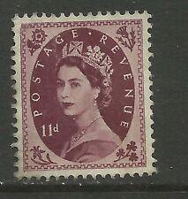 GB 1954 QE2 11d Brown Purple Wilding UNUSED NO GUM SG 528. ( E113)