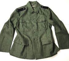 WWII GERMAN WAFFEN M1943 M43 WOOL COMBAT FIELD TUNIC-MEDIUM