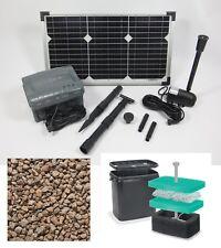 20W Solarpumpe Wasserspeier Garten Pumpe Filter Teich Akku Batterie Tauch Solar