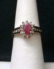 Stunning 10k Yellow Gold Pink Sapphire and Diamond Ring Make Offer! #1222