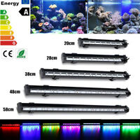 20-58CM Underwater Aquarium Fish Tank Air Bubble Light RGB LED Submersible