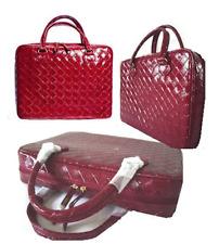Estee Lauder rojo imitación piel de cocodrilo Maquillaje Caso De Vanidad Bolsa De Cosméticos Y Monedero
