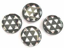 10 moneda de plata triángulos Plano-Pavo Real del grano de cristal checo - 14mm (14pck27009)