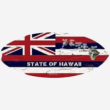 New Hawaiian Mini Surfboard Wooden Hawaii State Flag C-Ya Surf Beach Wood Sign