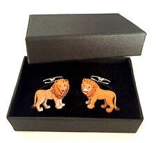 LION Cufflinks African Safari Zoo Leo Present Fathers Day