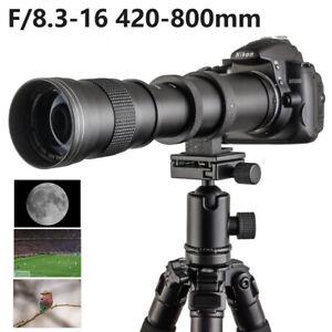 420-800mm F/8.3-16 Teleobjektiv für Canon Nikon Sony Olympus Fuji Digitalkamera