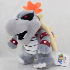 "10"" Super Mario Dry Bowser Bones Koopa Plush Doll Soft Toy Stuffed Animal US New"