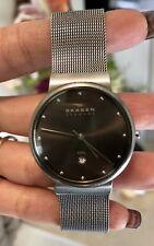 Skagen Men's Ancher Grey Stainless Steel Mesh Watch SKW6108