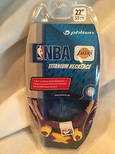 "Phiten Titanium Necklace Los Angeles Lakers 22"" X30 New In Box"