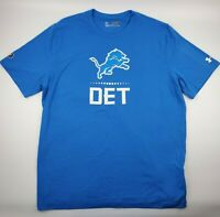 Detroit Lions NFL Under Armour Combine Authentic T-Shirt - HeatGear - Loose Fit