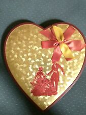 Vintage Schraffts Valentine Candy Box Heart Ribbons