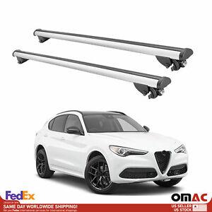 Aluminum Roof Rack Cross Bars Carrier Rails For Alfa Romeo Stelvio 2018-2021