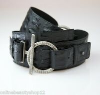 OPIKA Ladies 100% Genuine/Real Leather Waist Belt - Black ,Choose Pattern