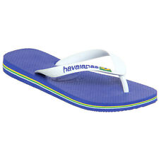 Havaianas Brasil Logo Kids Footwear Flip Flops - Marine Blue All Sizes