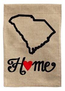 "South Carolina Home-Garden Flag-Evergreen-Burlap Double Sided-12.5""X18"""