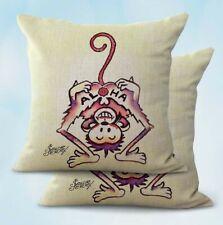Us Seller- 2Pcs Sailor Jerry Aloha monkeycushion cover decoration interior home