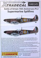 Xtradecal 1/48 X48145 Battle of Britain Spitfire pt 2 Decal Sheet