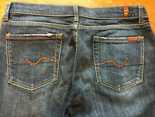 Seven 7 for All Mankind Womens Sz 31 Jeans Bootcut w/ Rhinestones Dark Wash