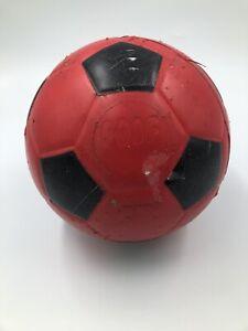 Poof Foam Soccer Ball ~ Red Black ~ Vintage ~ USA