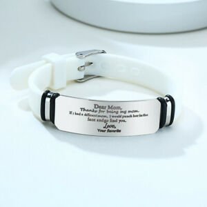 Personalize Inspirational To My Daughter To Mom Silicone Bracelet Wristband Gift