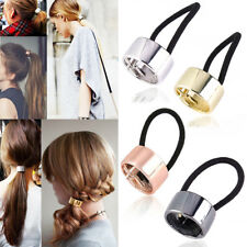 1PC Woman Girls Metal Elastic Ponytail Holder Hair Cuff Wrap Tie Band Ring Rope