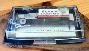 1965-72 Schick adjustable Injector safety razor single edge original case & key