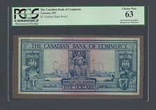 Canada -The Canadian Bank Of Commerce 5 Dollars Undated Back Proof Uncirculated