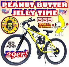 """50 80cc Gas Motor Complete Peanut Butter & Jelly Engine & 29"""" Bike Bicycle Kit"""