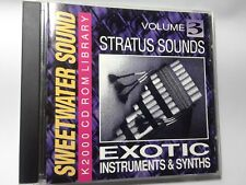 KURZWEIL ~ Sweetwater Sound ~ EXOTIC INSTRUMENTS & SYNTHS vol.3 ~ K2000 Cd-Rom!