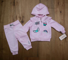 Juicy Couture Baby Girl Velour Hooded Jogging Set ~ Pink ~ Cupcake ~ Rainbow ~