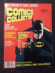 1985 COMICS COLLECTOR Magazine #8 FVF 7.0 Batman - Monster Comics