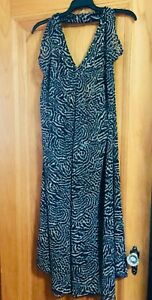 NWT VICTORIA'S SECRET VERY SEXY HALTER BEACH COVER-UP SARONG LEOPARD PRINT M/L