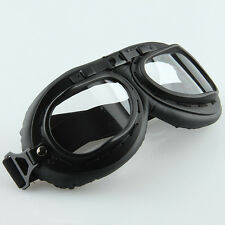 Vintage Adult Windproof Goggles Motorcycle Anti UV Eyewear Black Frame Glasses