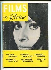 Sophia Loren Myrna Loy Karl Freund Flims In Review Magazine Feb 1963