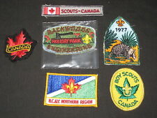 Canada, lot of 6 Boy Scout Patches       lpw