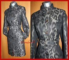 bd532422fc24 Karen Millen Leopard Print Statement Posh Long Mac Trench Coat Jacket 10 UK  EU38