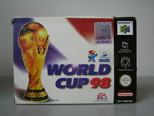 WORLD CUP 98 Nintendo 64 N64 Versione Europea PAL EA SPORTS NUOVO