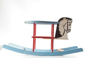 Old Wood Toy Horse Rocking Animal Swing Seesaw Children