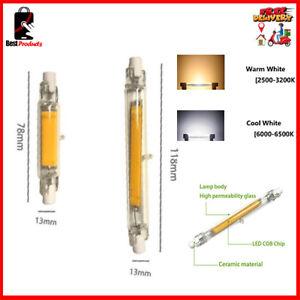 Super Bright Dimmable Cob R7S LED Lamp 15w 20w 40w 50w Bulb Halogen Light