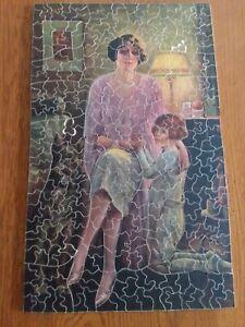 Vintage non interlocking wooden puzzle