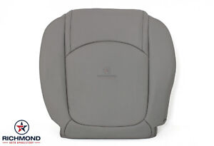2007-2010 Saturn Outlook -Driver Side Bottom Replacement Leather Seat Cover Gray