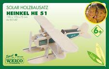 Kit Construcción Estructura de Madera Solarbausatz Heinkel He51 Weico