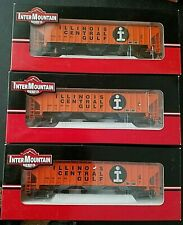 ho scale illinois central gulf ps4750 Rib Sided 3 bay covered hopper