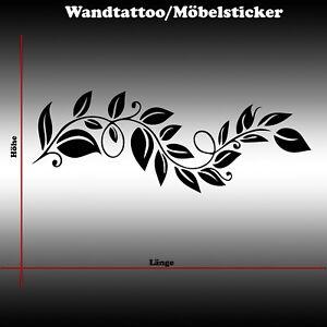 Wandtattoo Wandsticker Wandaufkleber Blumen Ranke Möbelaufkleber Dekoration