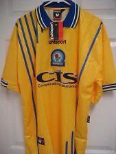BLACKBURN ROVERS FC Men Yellow Away Soccer Football Shirt XL Uhlsport New Tag